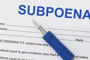 What to do if served a subpoena