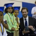 David McDivitt supports kindergarten promotion at Centennial Elementary School