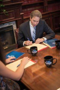 Attorney working